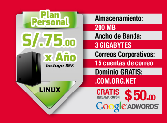 Plan Personal S/. 75 soles anuales