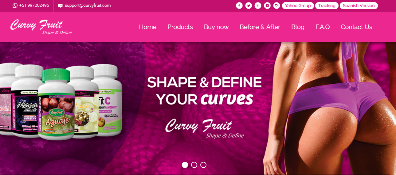 Curvy Fruit, the Original Aguaje Capsules and Powder products since 2010 gives you a 100 % Natural Way to enhance your Butt, Breast and Hips in a short time !